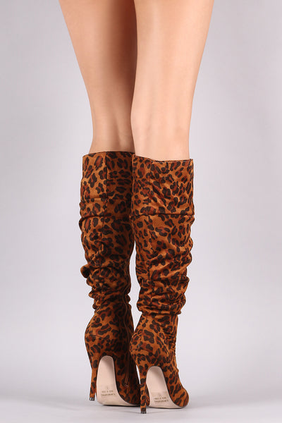 Leopard Lovers Knee High Boots