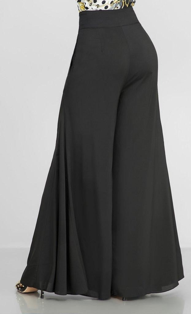 Fierce In Flare Palazzo Pants (Black)