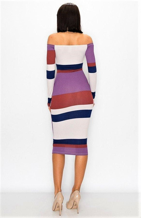 Fully Striped In Delight Dress
