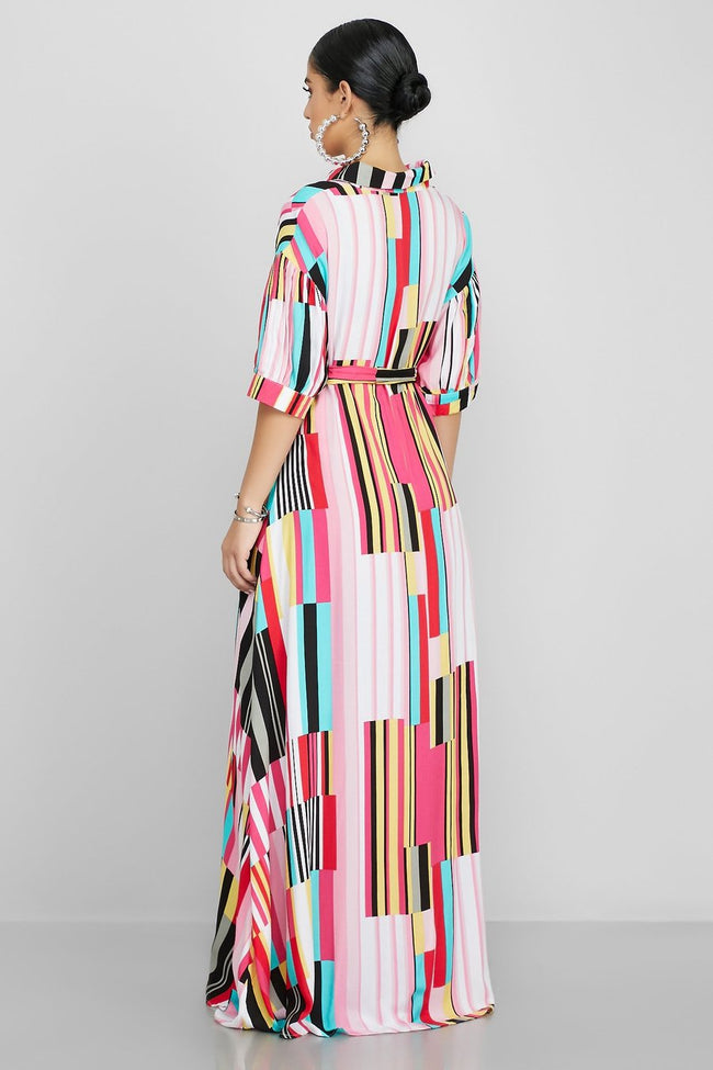 Amazing Layers Of Colors Maxi Dress