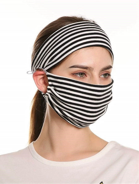 Chic Protective Denim Mask & Filters (In Stock, Ready To Ship)