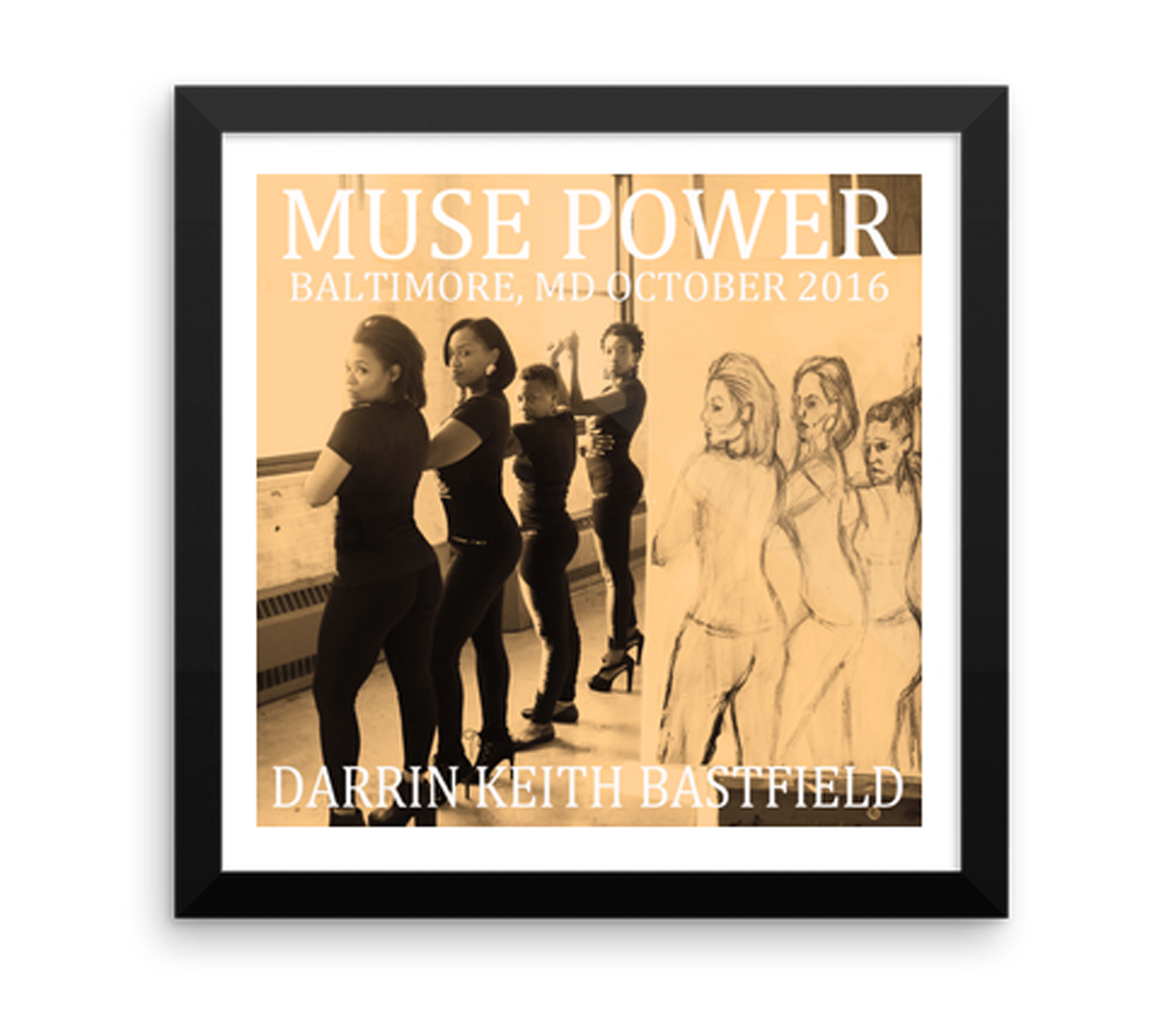 "MUSE POWER 18"" x 18"" POSTER (FRAMED)"