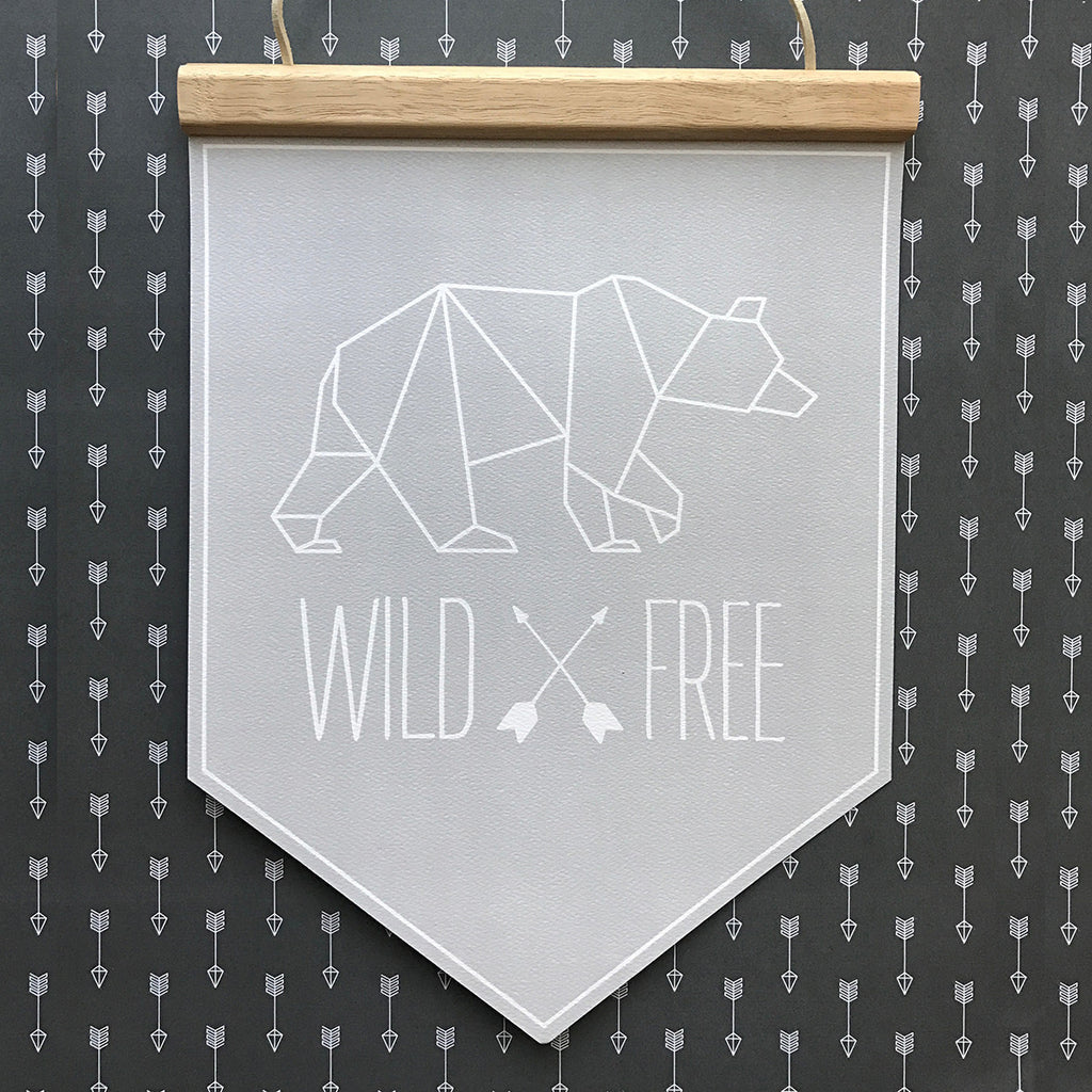 Geometric WildxFree Banner Grey Outline - SO! Collective