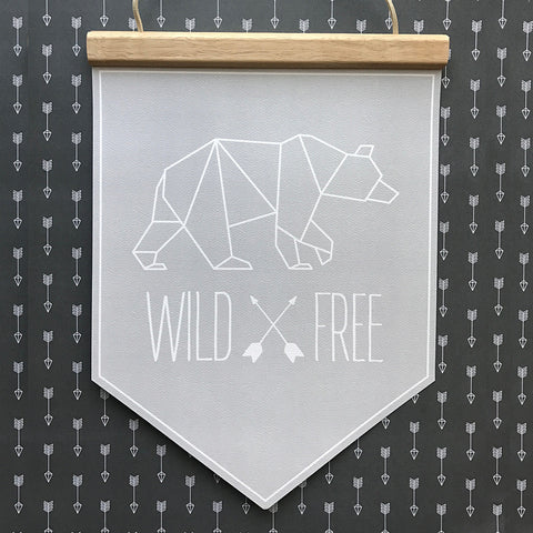 WildxFree Banner Grey Outline