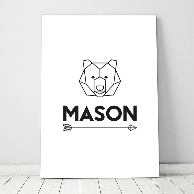 Geometric Bear Print - Personalised - SO! Collective