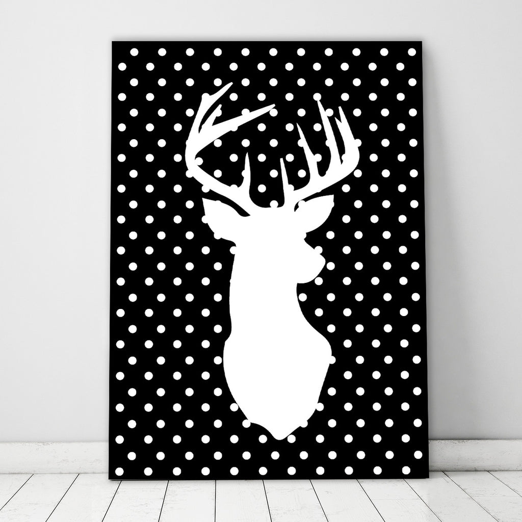 Polka Dot Stag Black - SO! Collective
