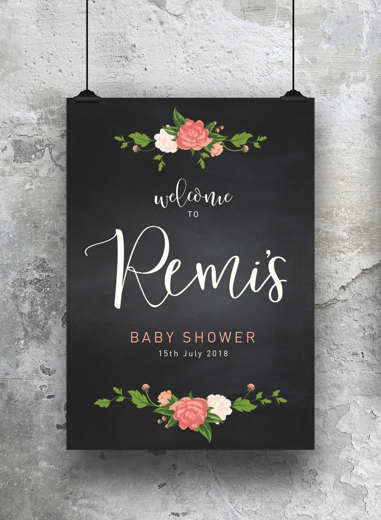 Baby Shower Welcome Print - SO! Collective