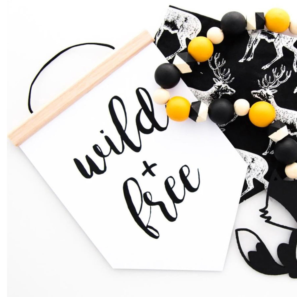 Wild & Free Text Banner - SO! Collective