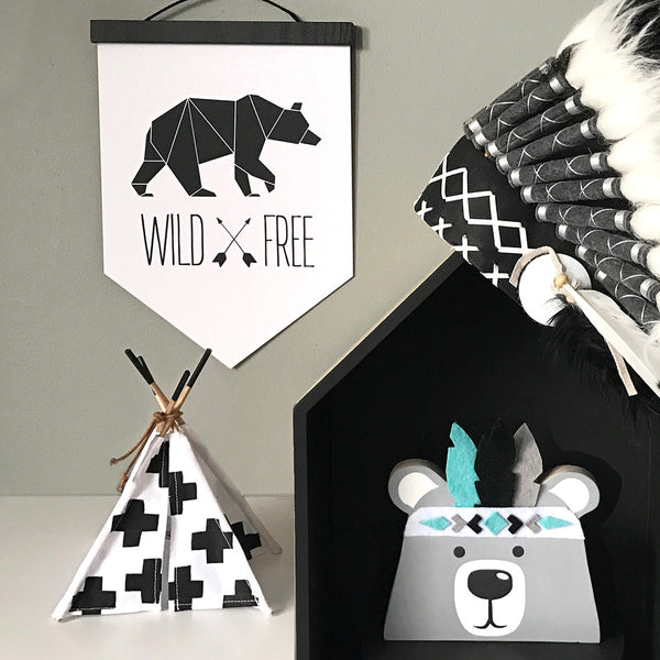 Geometric WildxFree Banner