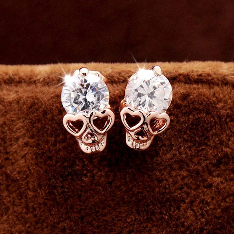 Crystal Skull Earrings - Allison Breeze Fashion Jewelry