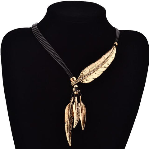 Feather Necklace **BOGO Offers Store Wide! Buy one & Get One Free, Discounted, or Save on Other jewelry!** - Allison Breeze Fashion Jewelry