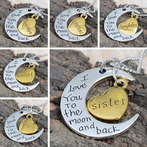 Family Moon Necklaces - Allison Breeze Fashion Jewelry