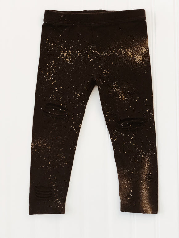 Cosmo Black Distress Leggings
