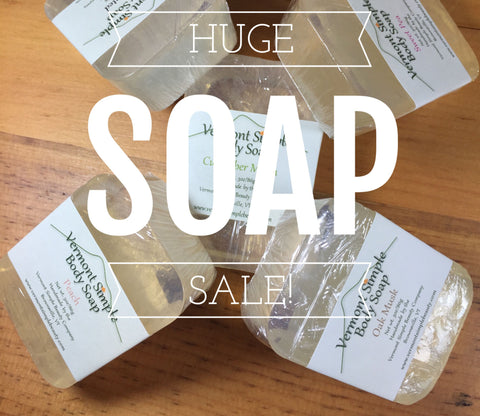 Vermont Simple Body Soap Buy-One Get-One 50% Off AND 10% Off Sale!