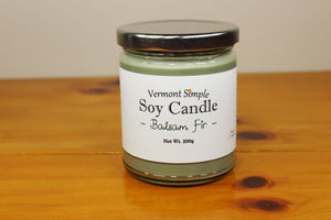 All Natural Balsam Fir Handmade Soy Candle