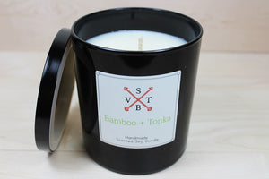 Bamboo + Tonka All Natural Luxury Soy Candle