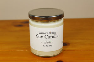 All Natural Birch Soy Candle
