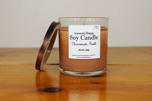 Cinnamon Roll All Natural Soy Candle Vermont Simple Beauty