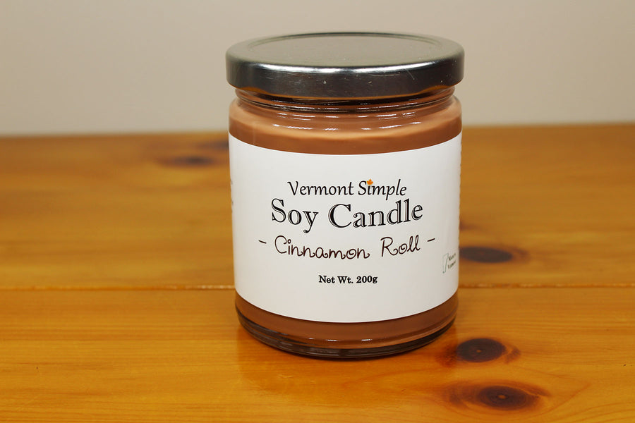 All Natural Cinnamon Roll Handmade Soy Candle