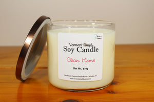 Double Wick Clean Home All Natural Soy Candle Vermont Simple Beauty