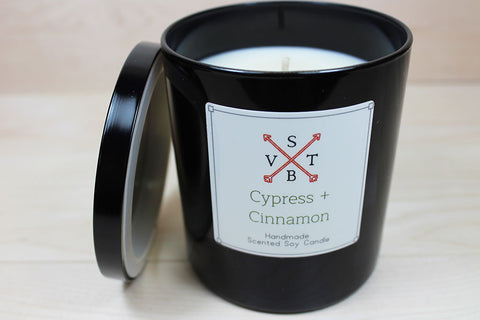Cypress and Cinnamon All Natural Luxury Candle
