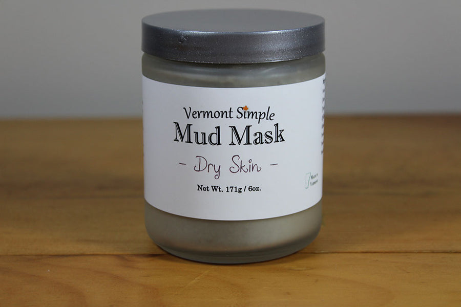 All Natural Mud Mask Dry Skin Vermont Simple Beauty
