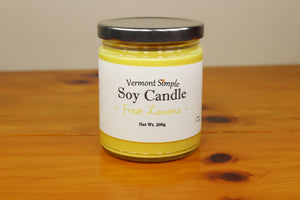 All Natural Fresh Lemons Handmade Soy Candle