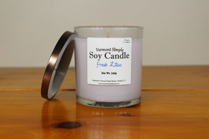 Fresh Lilac All Natural Soy Candle Vermont Simple Beauty