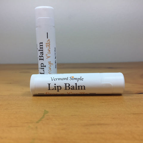 Vermont All Natural Lip Balm Orange Vanilla
