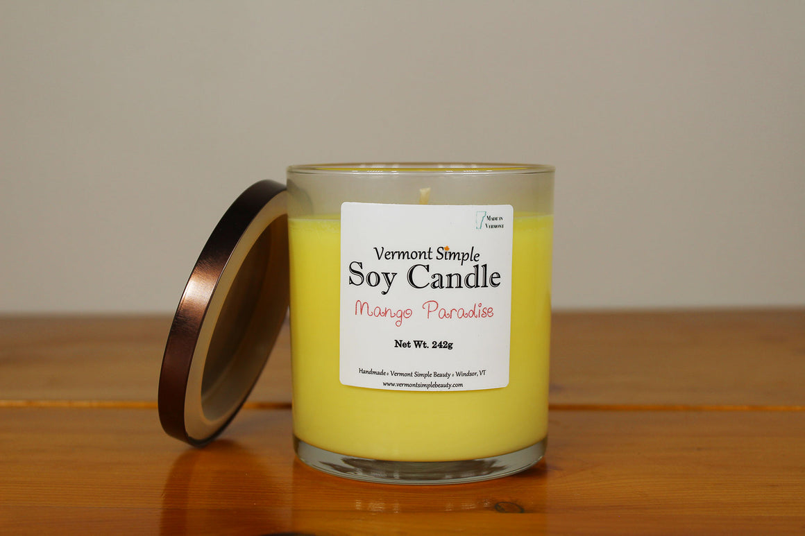 Mango Paradise All Natural Soy Candle Vermont Simple Beauty