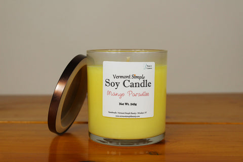 Mango Paradise Vermont All Natural Soy Candle