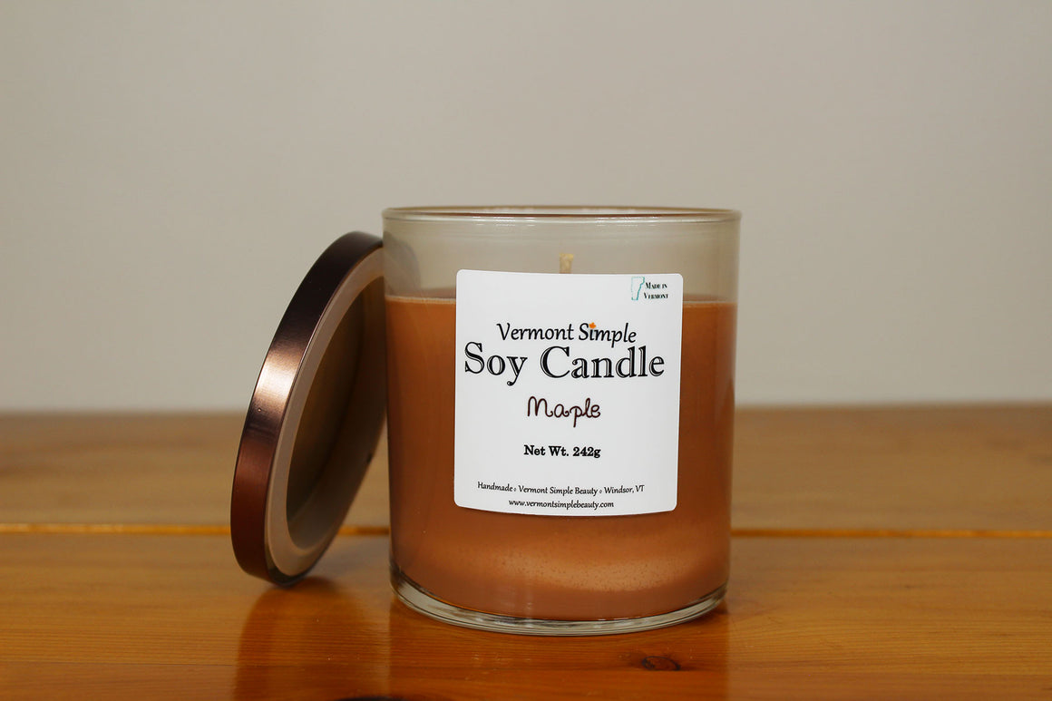 Maple All Natural Soy Candle Vermont Simple Beauty