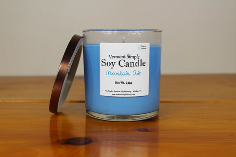 Mountain Air Vermont All Natural Soy Candle