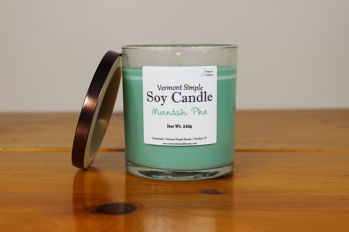 Mountain Pine All Natural Soy Candle Vermont Simple Beauty