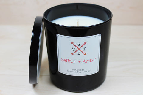 Saffron and Amber All Natural Luxury Candle