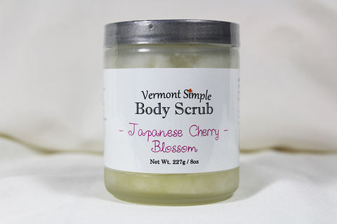 All Natural Body Scrub Japanese Cherry Blossom