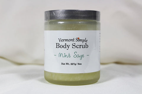 All Natural Body Scrub Mint Sage