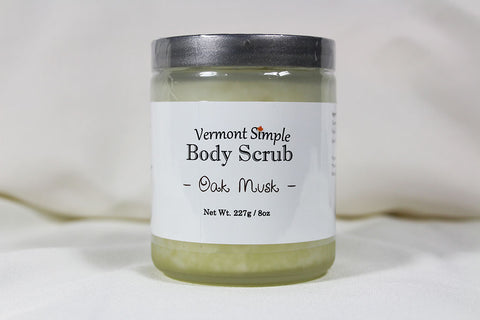 All Natural Body Scrub Oak Musk