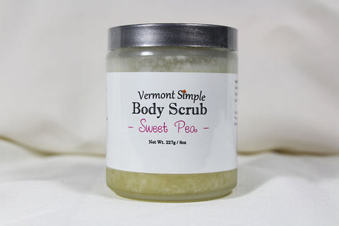 All Natural Sweet Pea Body Scrub