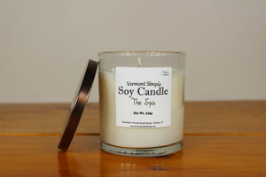 The Spa All Natural Soy Candle Vermont Simple Beauty