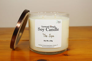 Double Wick The Spa All Natural Soy Candle Vermont Simple Beauty