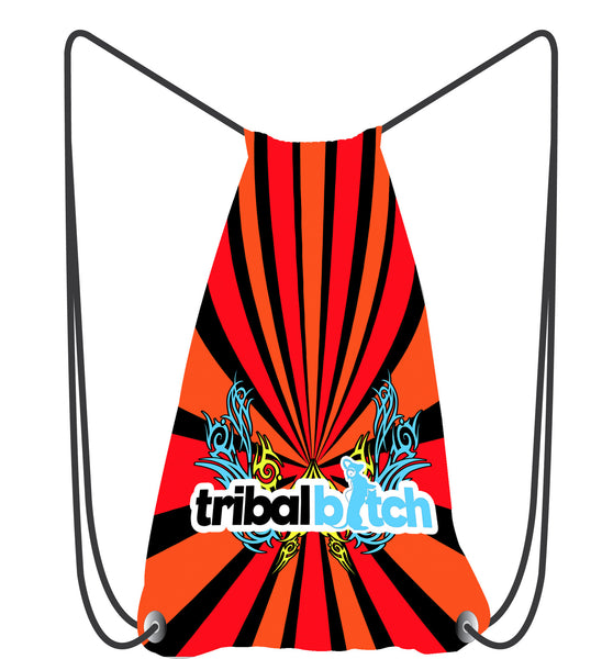 Neon Tribal Drawstring Bag
