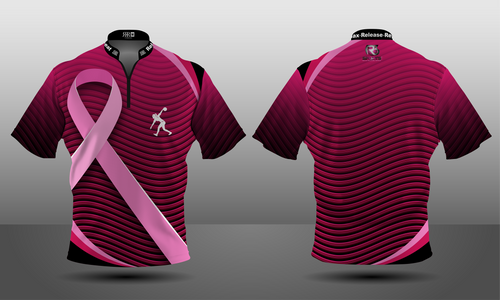 Cancer Awareness Valiant Zipper Jersey - Women's