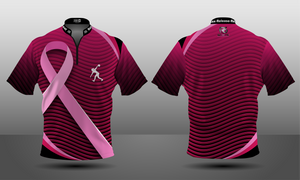 Cancer Awareness Ripple Zipper Jersey - Women's
