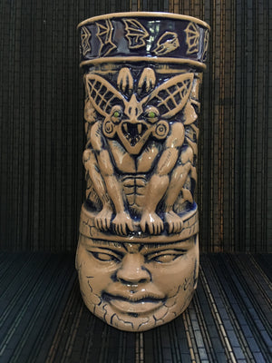 BAT GUARDIAN - Camazotz! TIKI MUG - Signed Limited Edition - BLUE