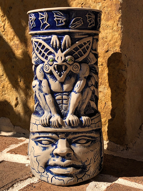 BAT GUARDIAN - Camazotz! Tiki Mug - OPEN EDITION PRESALE - Blue Stone