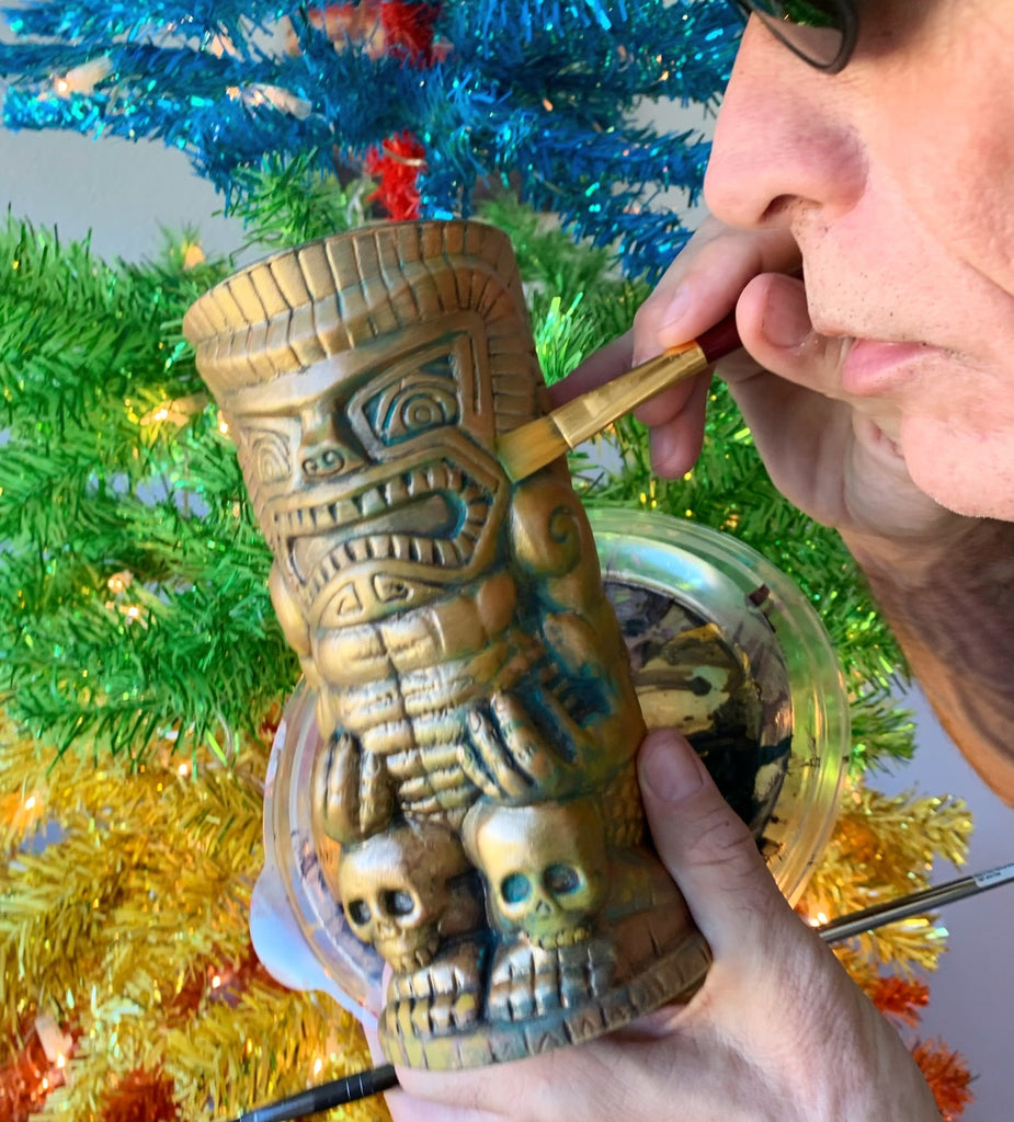 DON THE BEACHCOMBER Hand Touched Copper Patina Signed LIMITED EDITION Tiki Mug - Last Few!