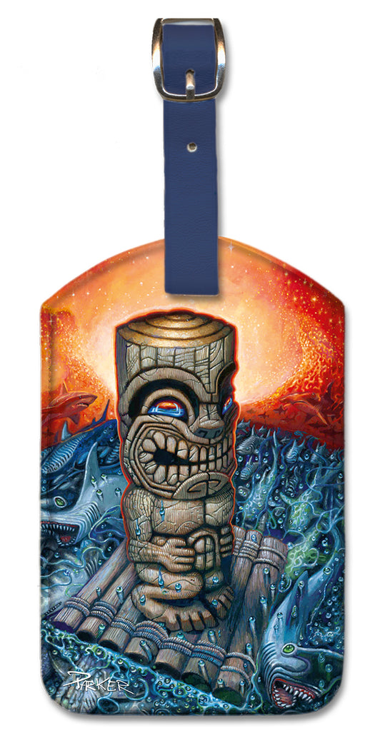 Kon Tiki Luggage Tag