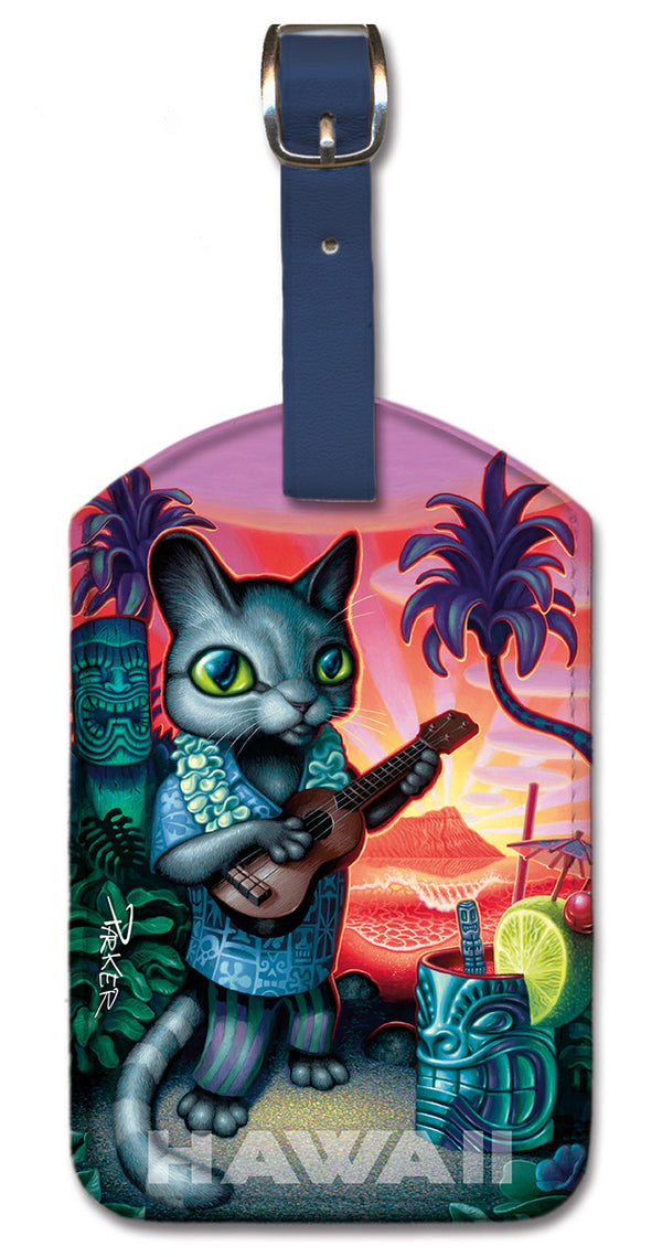 Tiki Cat Luggage Tag