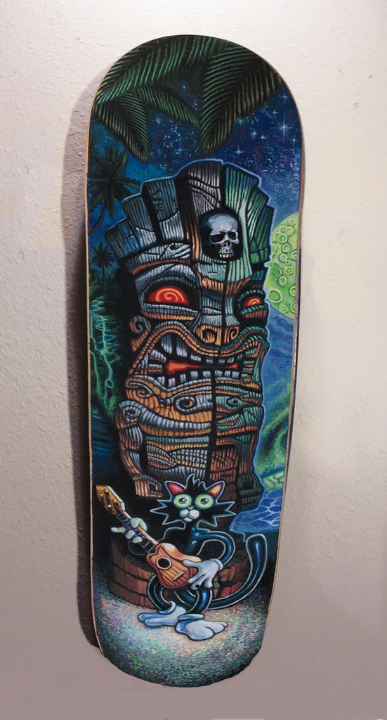 Scaredy Cat & the Haunted Tiki - Skate Deck - Limited Treasure - Halloween Special